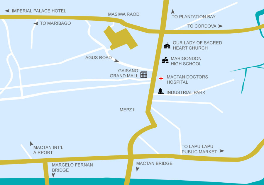 location map mactan