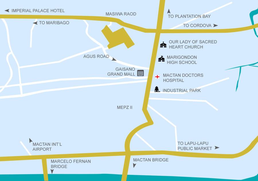 location map mactan